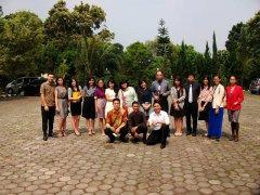 Pengambilan gambar bersama teman-teman dari Bible Study dan PA Maranatha - Gereja Secapa AD Bandung