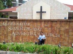 Gereja advent Singapore, akhrnya dapat juga gereja ini setelah putar-putar dengan taksi :)